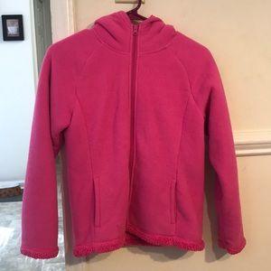 Pink Warm Sherpa Fleece Girls Jacket